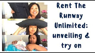 Rent The Runway Unlimited: unveiling & try on