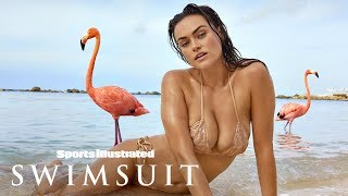 Myla Dalbesio Goes Wild, Gets Wet With Flamingos In Aruba | Candids | Sports Illustrated Swimsuit
