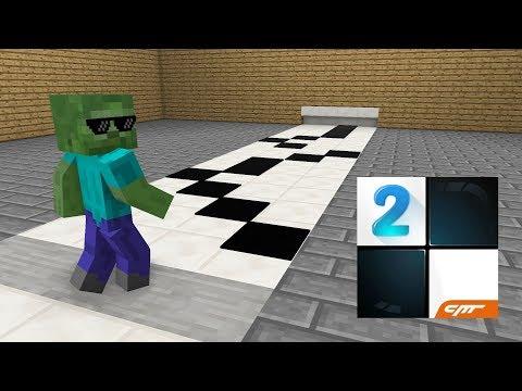 Monster School : Piano Tiles - Minecraft Animation