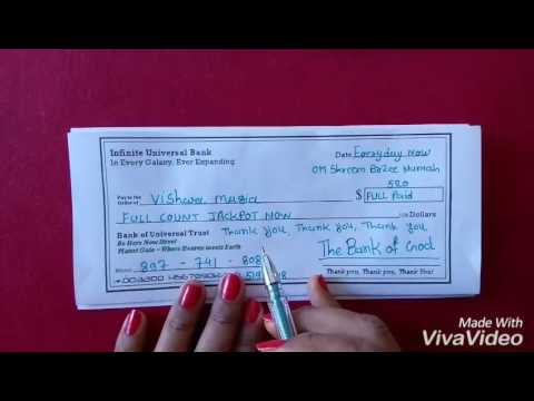 New Moon Magical Cheque for More Money/Prosperity and Abundance