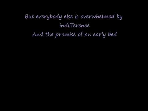 Elvis Costello - Radio Radio (lyrics on screen)