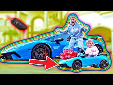 SURPRISING MINI JAKE PAUL WITH A MINI LAMBORGHINI!!