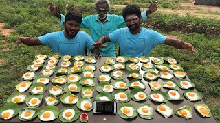70 Half Boils Prepared by my Daddy / Challenged by Eating Challenge Boys / Village food factory
