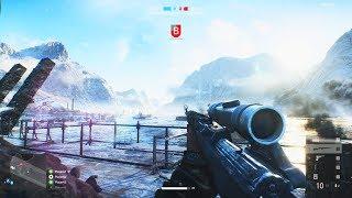 Battlefield 5 Multiplayer Squad Teamwork & Sniper Gameplay