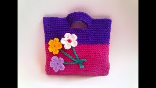 How to crochet bag purse free pattern for beginners