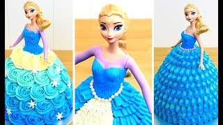 Frozen Elsa Cake | Disney Princess Doll Cake Ideas