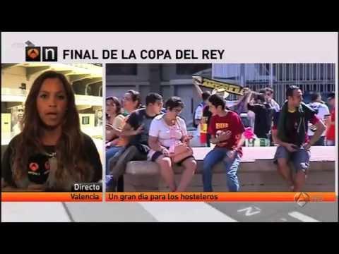 Nuestra columnista, la periodista española, Tatiana Roig en vivo para toda España por la final de la Copa del Rey.