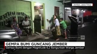 Video Gempa 6,2 SR Guncang Jember