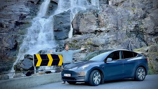 We Check Out The Made In China Tesla Model Y And Drive It Up An Amazing Norwegian Mountain Pass!