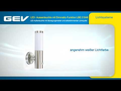 GEV LED- Edelstahlleuchte mit Bewegungsmelder