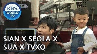 SIAN X SUA X SEOLA show off their dancing skills in front of TVXQ[The Return of Superman/2018.05.13]