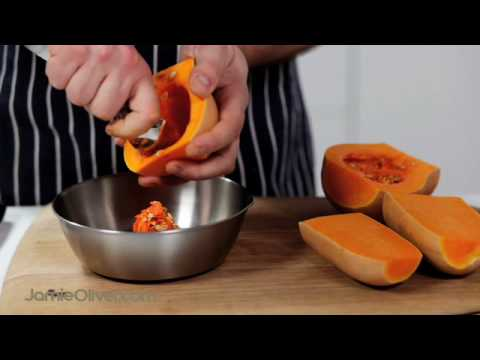 How To – chop butternut squash, with Jamie Oliver's mate Pete