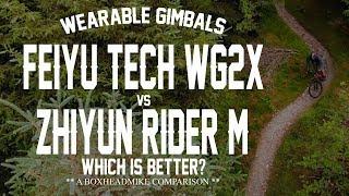 Feiyutech WG2X vs Zhiyun Rider M Gimbal Mountain biking Comparison