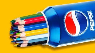 24 BRIGHT HACKS WITH CRAYONS AND COLORED PENCILS