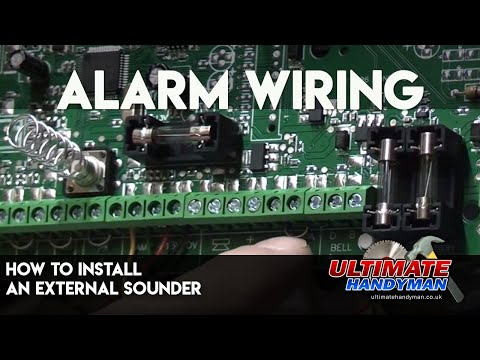 How to install an external sounder | Alarm wiring