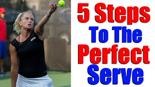 How To Serve In Tennis   5 Steps To A Great WTA Serve   Tennis Serve Lesson