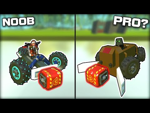 NOOB vs PRO Explosive Shootout on ICE! (Scrap Mechanic Gameplay)