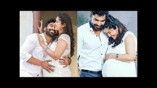 Mogalirekulu Serial Actor Sagar wife Soundarya Maternity Shoot Photos   Tollywood Today
