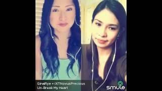 Unbreak my Heart - Precious E and Gina Smule Duet