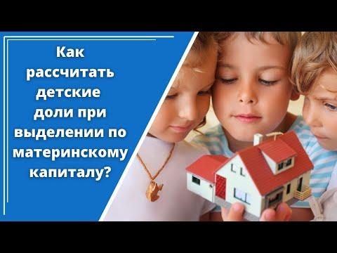 Как самостоятельно рассчитать детские доли по материнскому капиталу без нотариуса