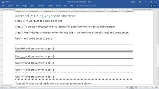 How to Insert a Line in Word (2007/2010/2013/2016/365)    How to Make a Line in Word [updated-2018]