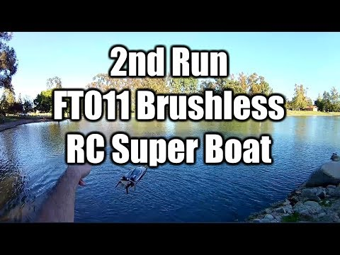 FT011 Brushless RC Boat 2nd Run