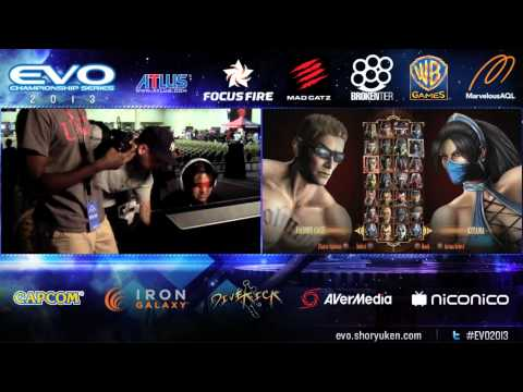 Blind guy competing in Evo Mortal Kombat 9 (Rattlehead vs. Crazy DJT)