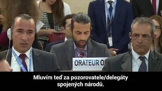 Mosab Hasan Júsuf - skvělý projev v OSN
