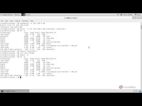 How to mount/unmount Local and Network Filesystems in Linux