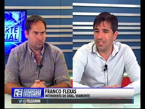 El #Intendente de #GralViamonte, Franco Flexas estuvo en #ReporteEspecial