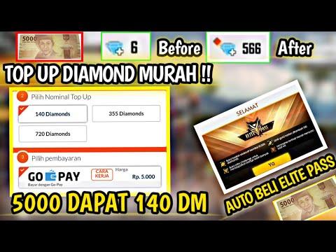 Buruan Beli !! Diskon 75% 5 Ribu Dapat 140 Diamond Murah Banget Auto Beli Elite pass Mantul !!