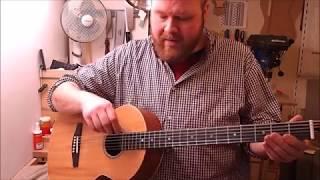 Gilmore Baritone Guitar neck repair and fingerboard reglue