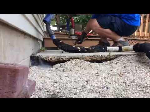 Concrete Foundation Raising - Slow motion