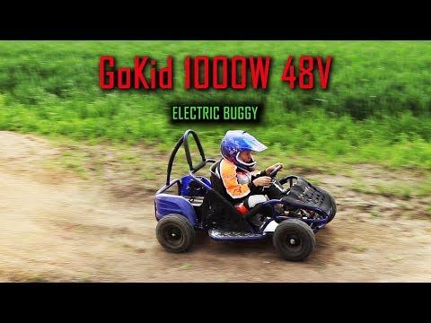 GoKid 1000w 48v Electric Buggy-Gokart in Action