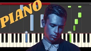 Flume Let You Know  London Grammar Piano Cover Midi Tutorial Sheet App  Karaoke