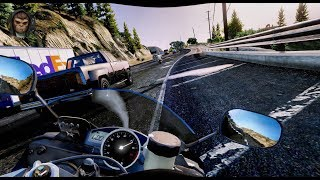 ► GTA 6 Graphics ✪ CRAZY Driving In Traffic! Yamaha YZF R6 2018 ✪ NEW Ultra Graphics MOD GTA V