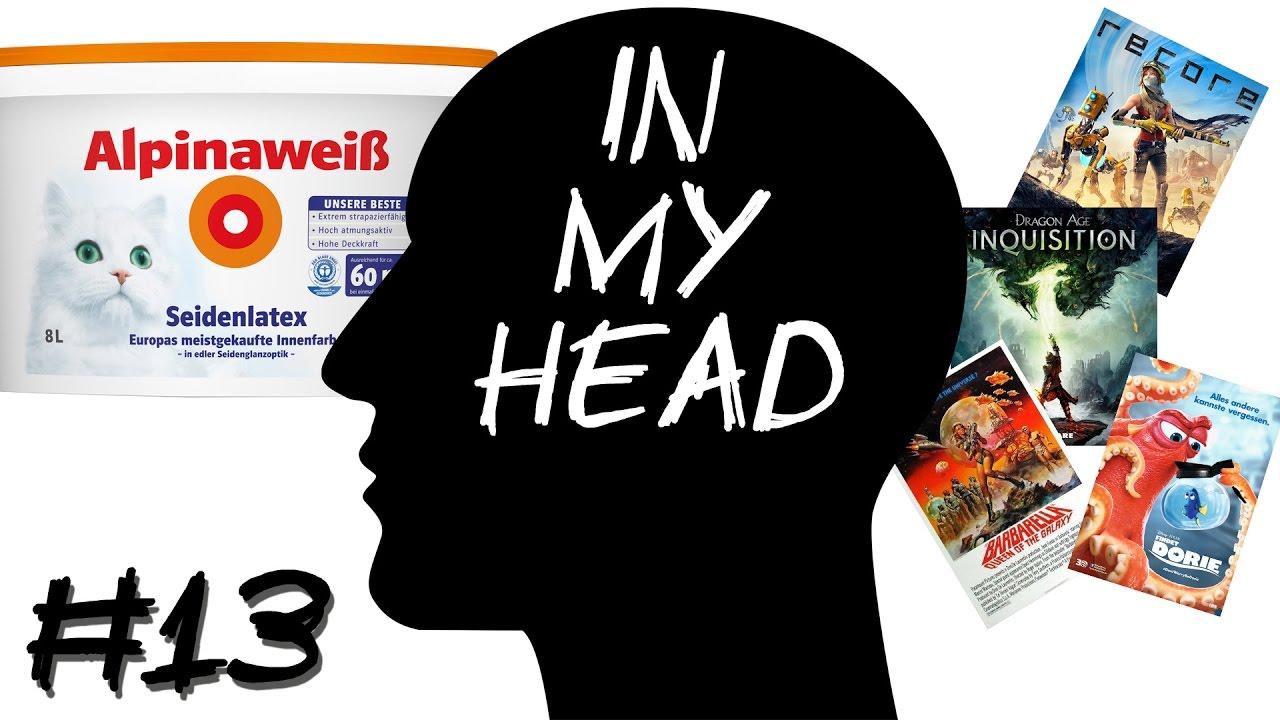 [In My Head] Episode 13 – Die Inquisition, ReCore, Findet Dorie & Weisse Farbe im Gesicht