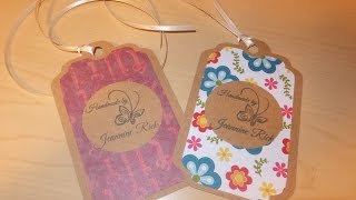 """DIY """"Handmade By"""" Product/Gift Tags with Cricut"""