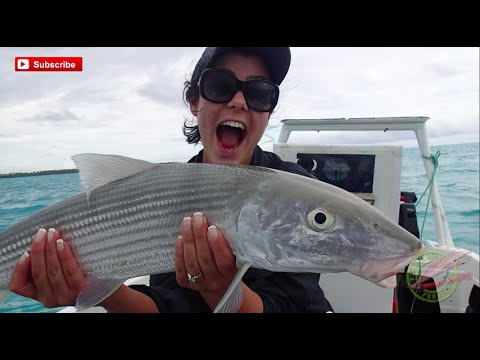 Wife Catches Monster Bonefish on Honeymoon in Cook Islands