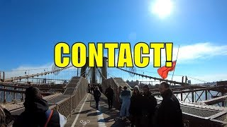 Making Contact With a Pedestrian while Cycling Across the Brooklyn Bridge (February 16, 2019)