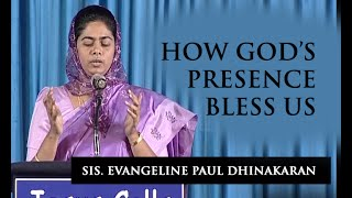 How God's presence bless us (English - Hindi) - Sis. Evangeline Paul Dhinakaran