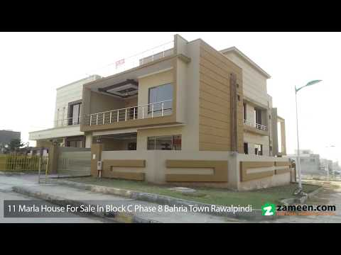 11 MARLA CORNER HOUSE FOR SALE IN BLOCK C PHASE 8 BAHRIA TOWN RAWALPINDI