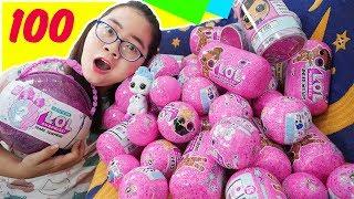 Được Bố Tặng 100 Quả Trứng LOL Surprise Phiên Bản Búp Bê & Thú Cưng Biết Nói