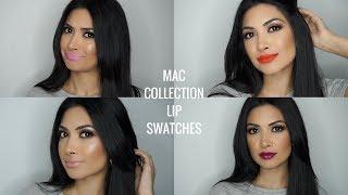 CLASSIC MAC LIPSTICK COLLECTION | LIP SWATCHES | Thatmaragirl