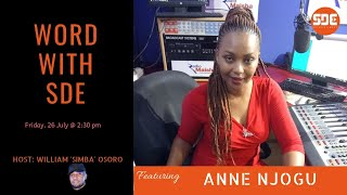 #WordWithSDE featuring Radio Maisha's Anne Njogu