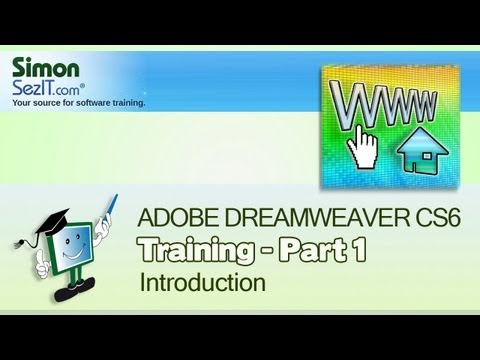 Dreamweaver CS6 Training - Part 1 - Creating a Website Course