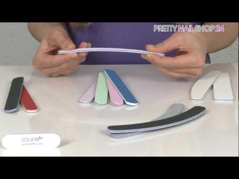 Nagelfeilen für die gelungene Maniküre und künstliche Fingernägel