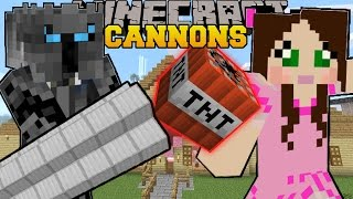 Minecraft: CANNONS & FLAMETHROWERS! (TNT & FIRE EVERYWHERE!!) Custom Command