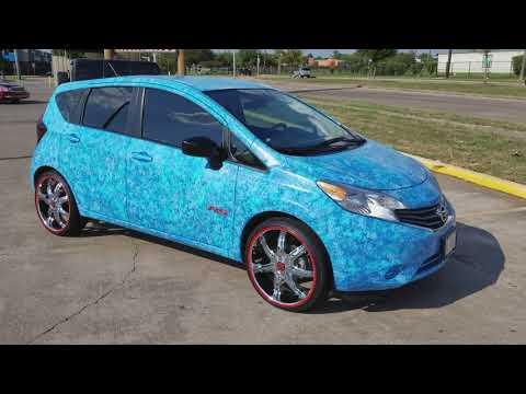 MY TRICKED OUT UBER CAR!! NISSAN VERSA NOTE. 1.6 ON 20s