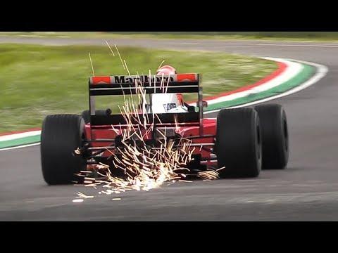 Historic Minardi Day 2019: Minardi F1 V12 Lamborghini, Tyrrell P34, McLaren MP4/5 V10, FW14
